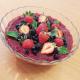 Taça mousse com frutas vermelhas