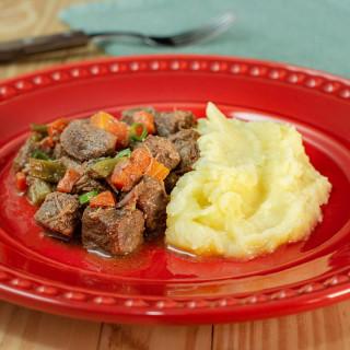 Picadinho de carne com pure de batata inglesa zero lactose | Da Mamãe Fitness