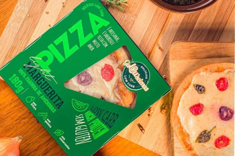 pizza de marguerita low carb