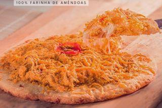 pizza de frango cremoso low carb