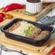 almondegas com arroz feijao e abobrinha