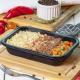 blend de carne com mix de legumes arroz e feijão
