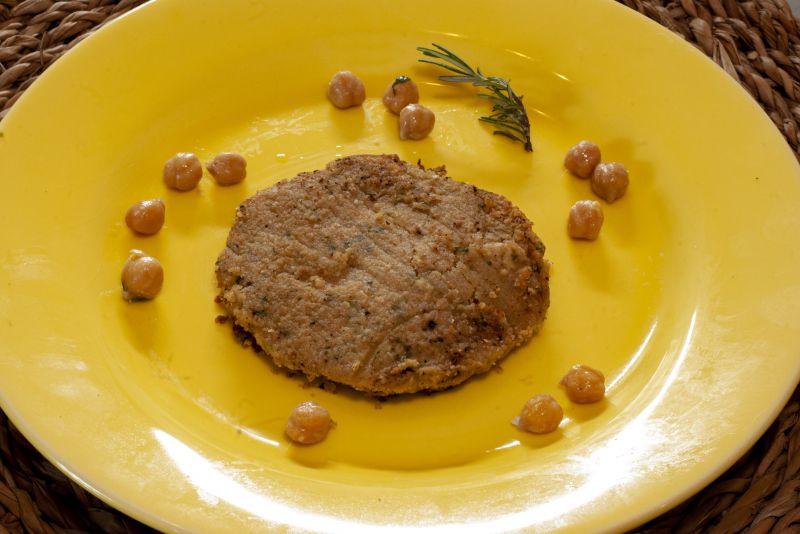 Búrguer de grão de bico + arroz de brócolis + feijão preto