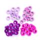We R - KIT COM 60 PEÇAS DE ILHOSES EM 4 TONS VARIANTES DE ROSA - EYELETS PINK - (41580-0).